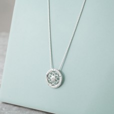 Synergy Jewellery Zen Flower Necklace Silver