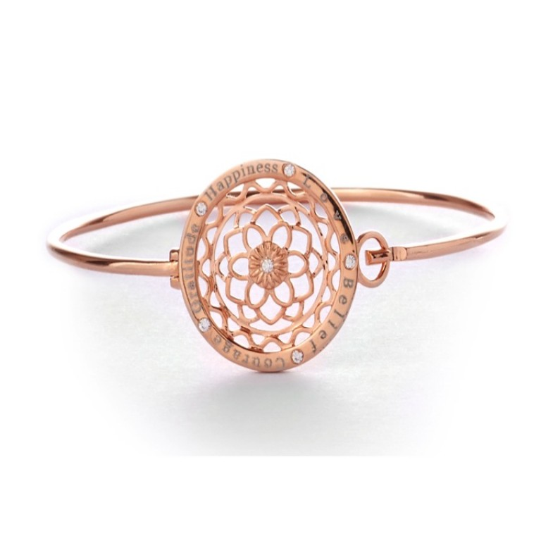 Synergy Jewellery Zen Flower Bangle Rose Gold