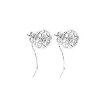 Synergy Jewellery Zen Flower Earrings Platinum