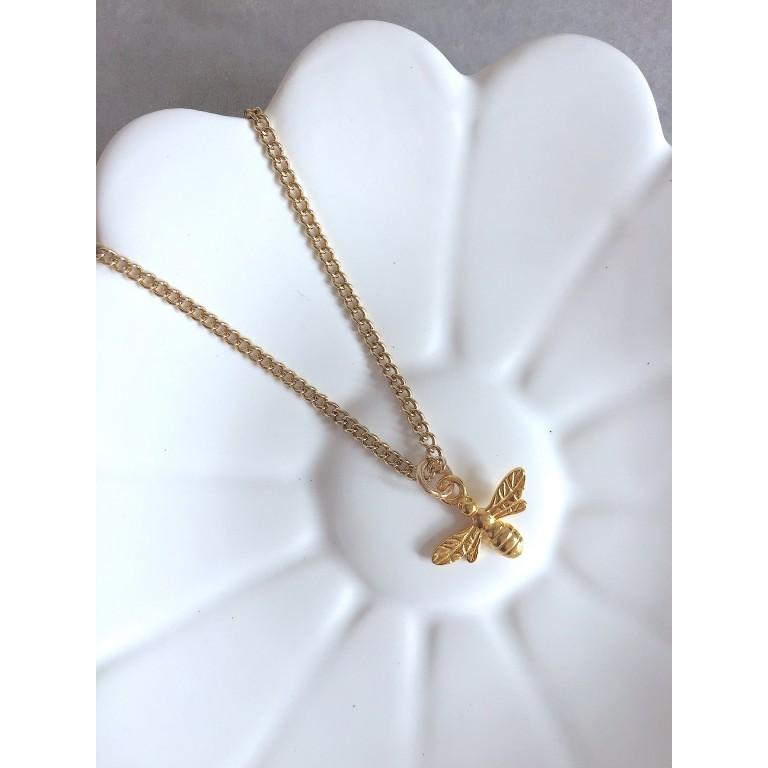 The Keepsake Gold Bee Necklace
