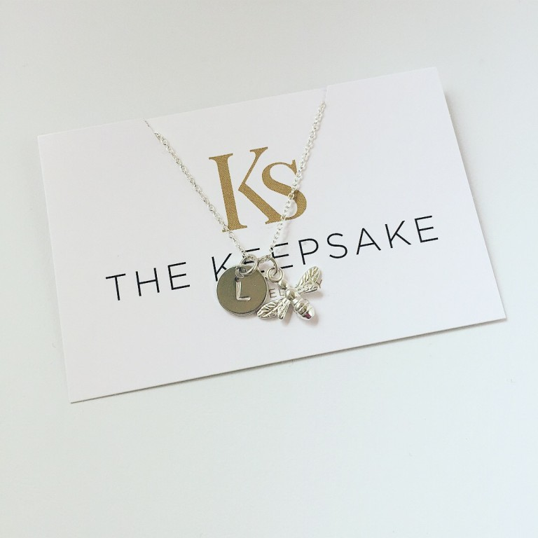 The Keepsake Bee & Mini Disc Necklace