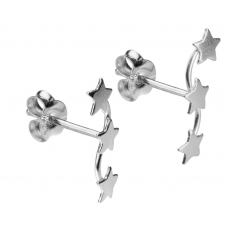 Sterling Silver Trio Of Star Earrings