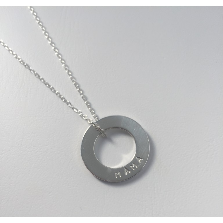 The Keepsake Sterling Silver Washer Necklace