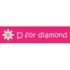 D for Diamond White Enamel Flower Bracelet